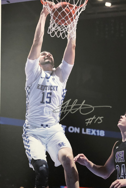 Isaac Humphries signed 11x17