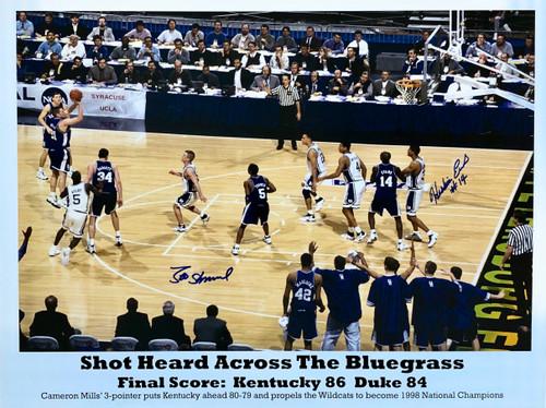 Shot Heard Across the Bluegrass signed Sheppard and Evans