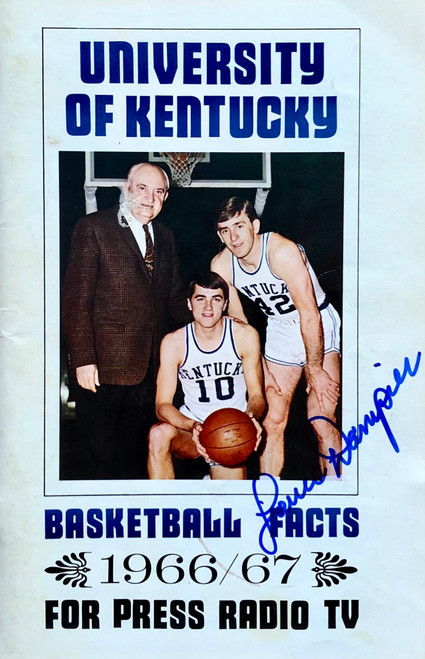 UK Basketball Facts 1966/67 signed by Louie Dampier
