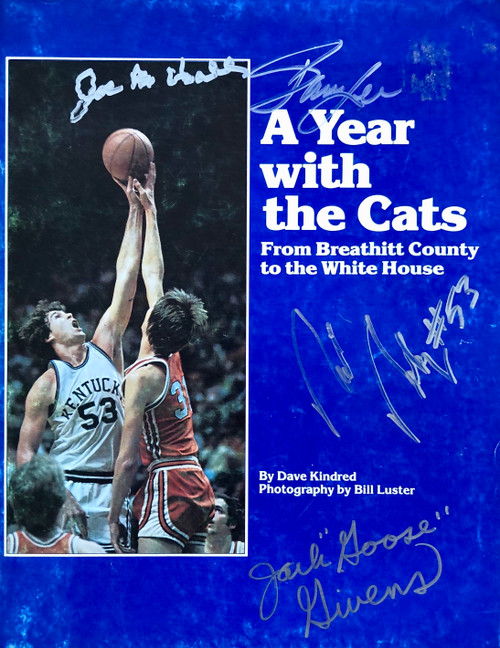 A Year with the Cats is magazine is signed by Hall, Lee, Robey and Givens
