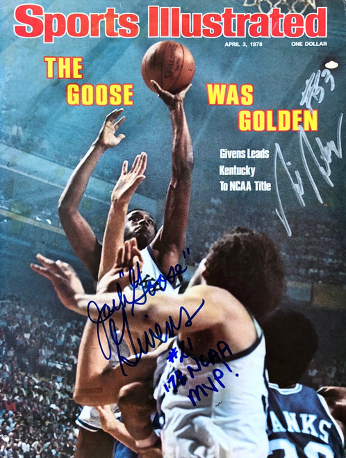 "Sports Illustrated Magazine signed Jack ""Goose"" Givens, and Rick Robey"