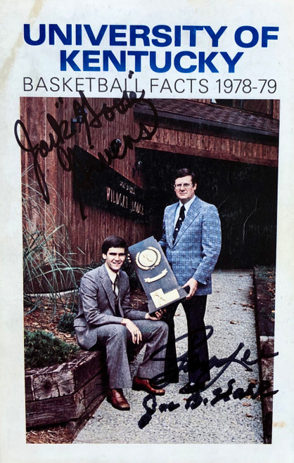 UK Basketball Facts 1978-79 book signed by Hall, Lee, and Givens