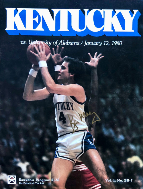Kentucky vs. Alabama 1980 program signed by Kyle Macy