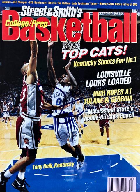 Street & Smith's Basketball magazine signed Tony Delk