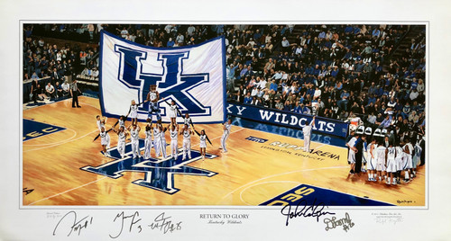 Return to Glory signed by John Calipari, Darius Miller, Terrence Jones, Marquis Teague, and Doron Lamb