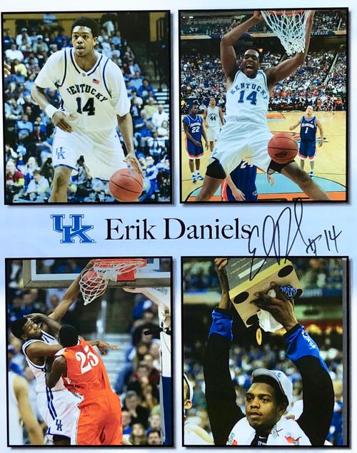 Erik Daniels signed 11x14