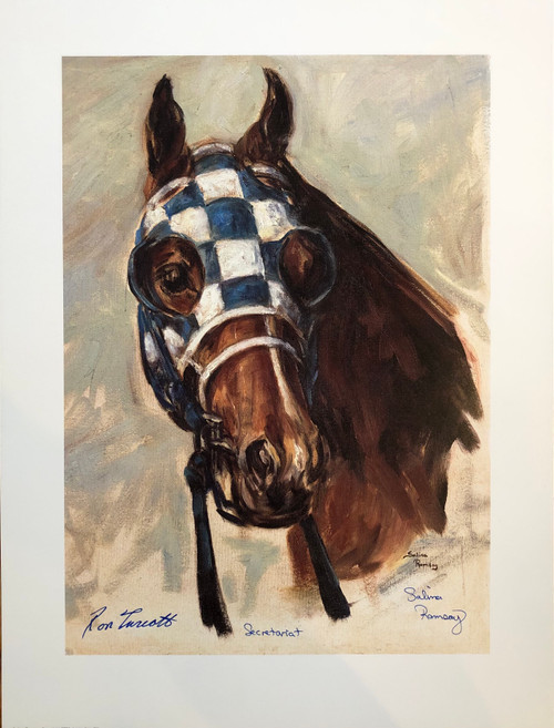 Signed by Ron Turcotte and Artist Salina Ramsay with Certificate of Authenticity