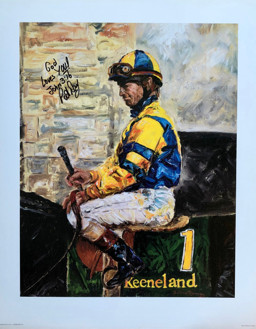 Pat Day Keeneland signed Pat Day 16x20