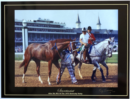 Secretariat after is win in the 1973 Derby