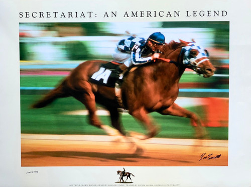 Secretariat: An American Legend is signed by Ron Turcott and Charlie Davis