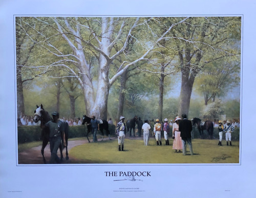 The Paddock Keeneland Race Course by artist James Crow