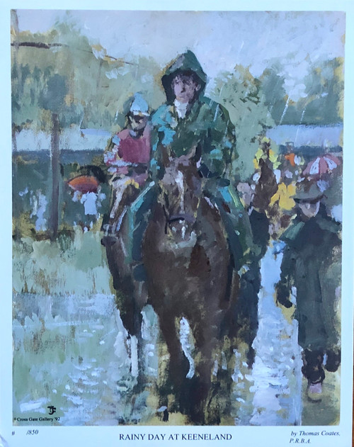 Rainy Day at Keeneland by artist James Coates