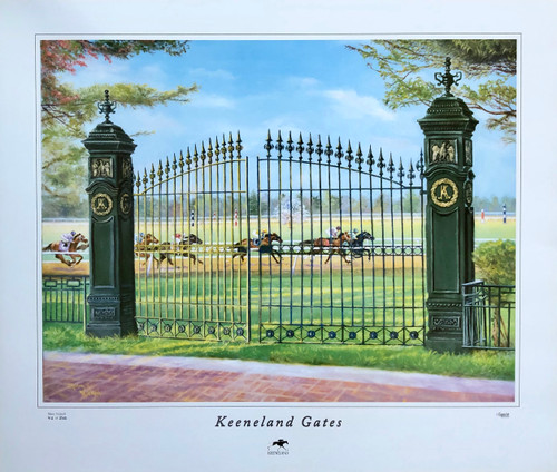 Keeneland Gates by artist Mary Nickell