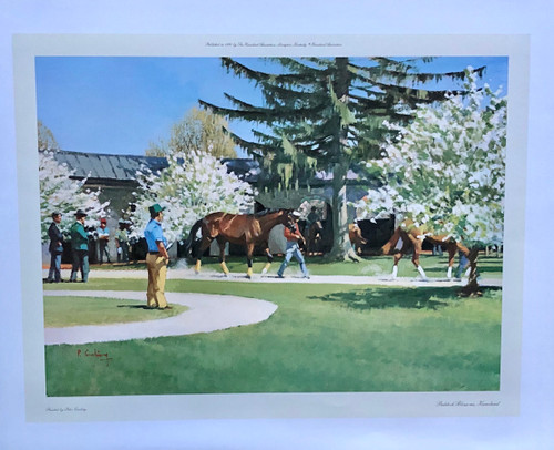 Paddock Blossoms, Keeneland by artist Peter Curling