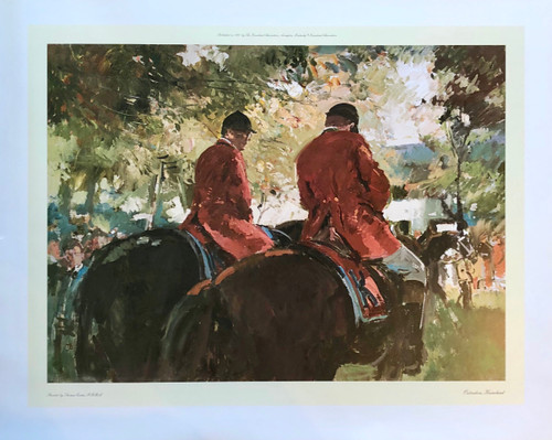 Outriders, Keeneland by artist Thomas Coates
