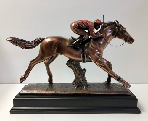 "Jockey Up Figurine 16""W x 11.5H"