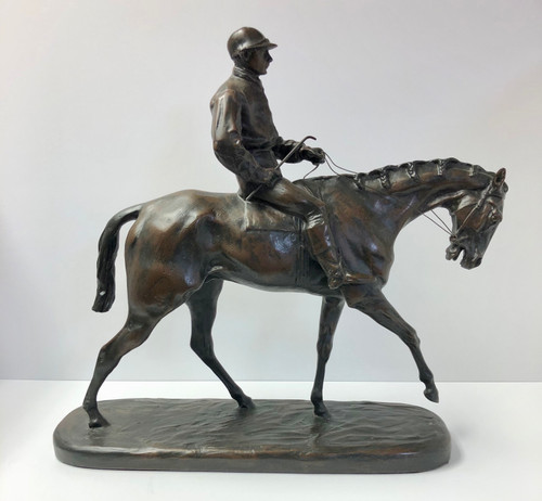 Jockey on Horse Figurine