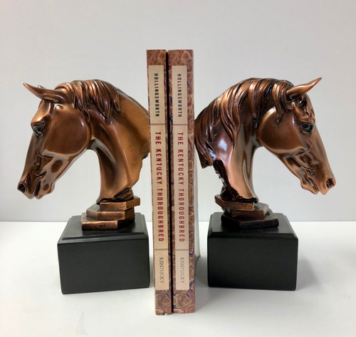"Horsehead Bookends 5""W x 7.5H"