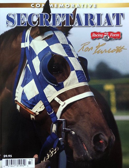 Secretariat Commemorative Magazine signed by Jockey Ron Turcotte