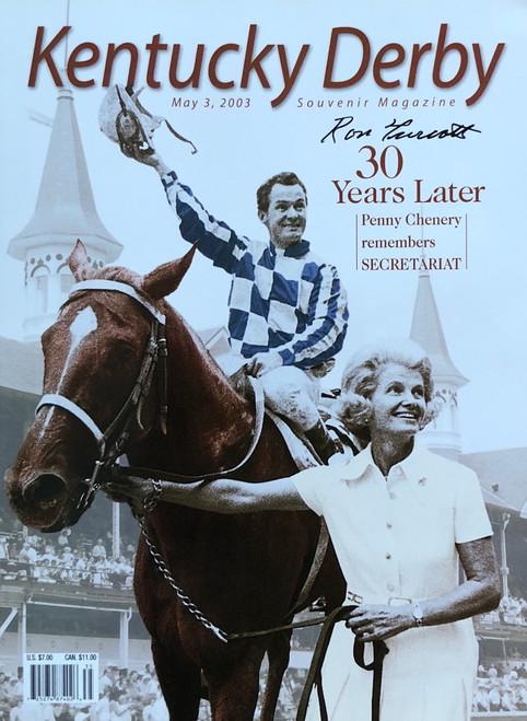 Kentucky Derby 30 Years Later Magazine signed by Jockey Ron Turcott