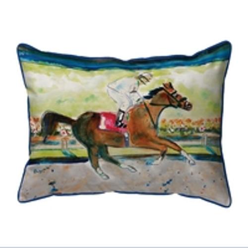 Racing Horse Cord Pillow Large 20x16