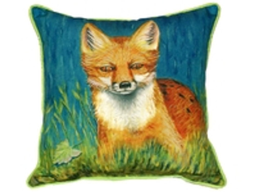 Red Fox Cord Pillow Large indoor/outdoor 18x18
