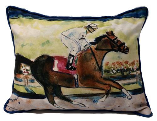 Racing Horse Pillow Small indoor/outdoor 14 x 11