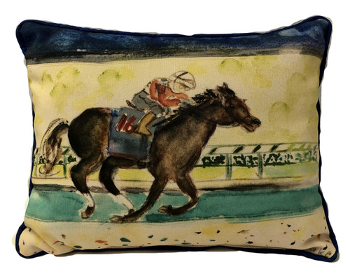 Derby Winner Pillow Large Indoor/Outdoor 20 x 16