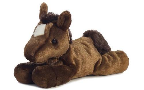 """""""Chestnut"""" Mini Flopsie Horse 8W x 7.5H"""