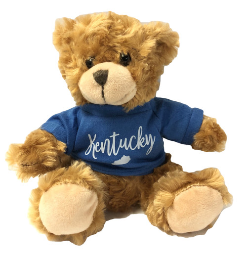 "Kentucky Bear Plush 7"" with Kentucky state outline jersey"
