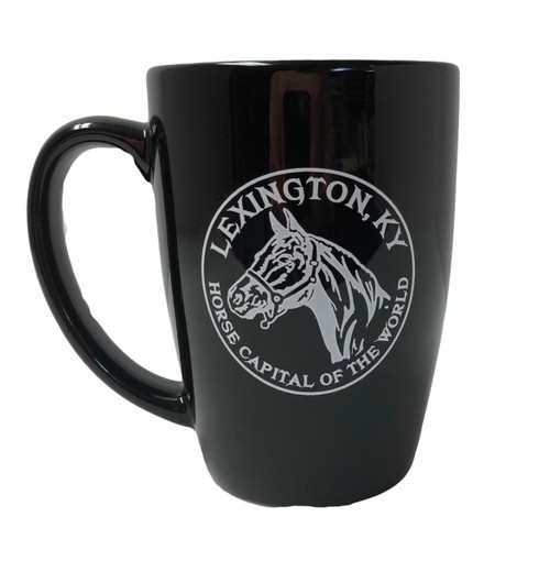 "Lexington, Ky Horse Head Coffee Mug  3.5""W x 4.75""H"