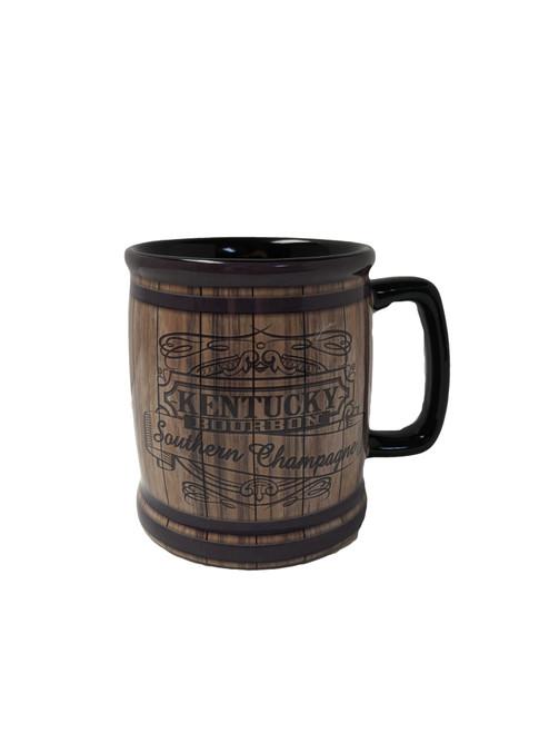"Kentucky Bourbon Southern Champagne Coffee Mug  3.75""W a 4.25""H"