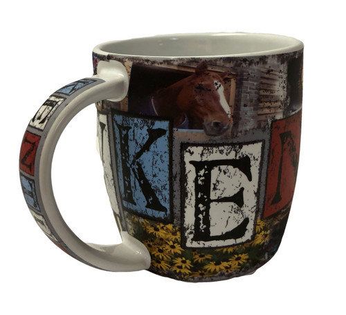 "Kentucky Mosaic Coffee Mug 3.75'W x 4""H"