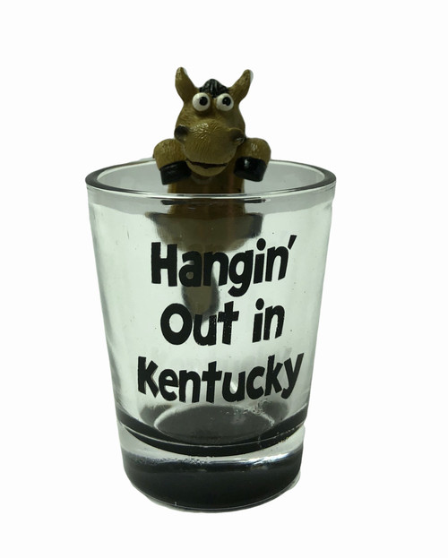"Hangin' Out in Kentucky Shot Glass 2""W x  3.25""H  $6.00"