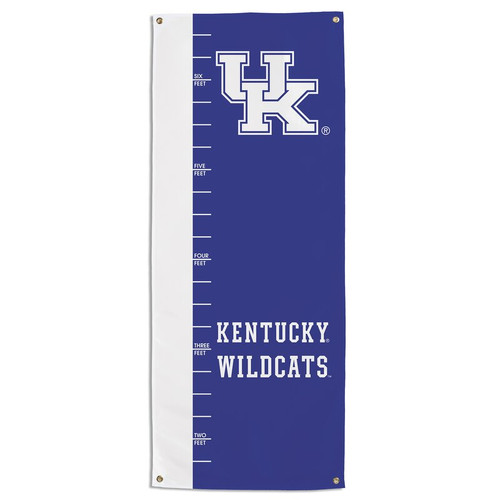 "Collegiate 24' x 62"" growth chart banner"
