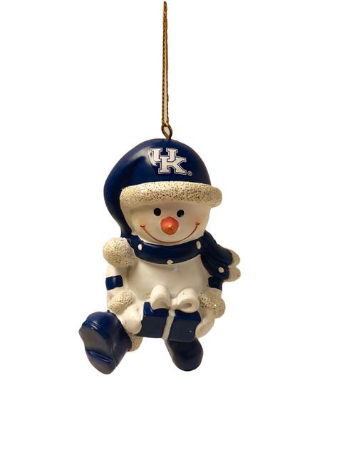 "Resin snowman: 2.50""W x 4""H"