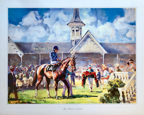 """24""""W x 19.25""""H Print signed by: Penny Chenery"""