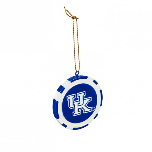 "2.50""W x 2.50""H Blue/white round chip with UK logo and GO BIG BLUE two sided"