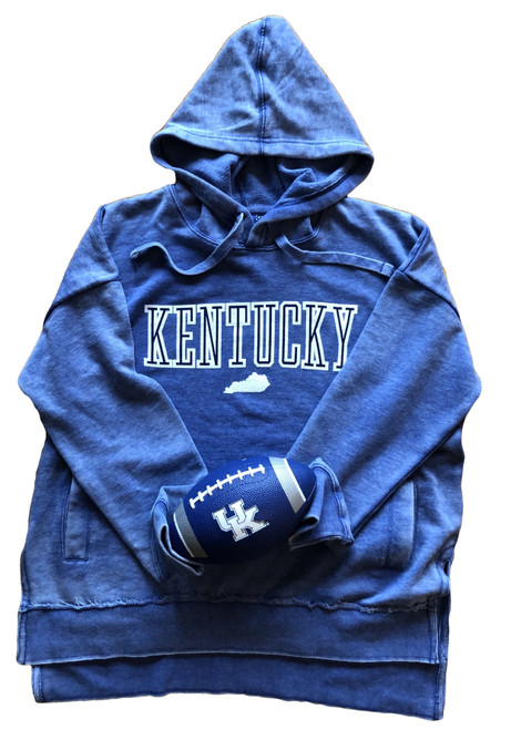 Kentucky hooded fleece with side pockets, sizes S-XL