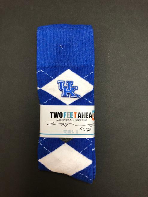 Unisex argyle crew socks fits shoe size 9-12