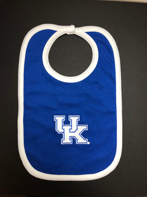Children's bib one size in royal/white with with UK
