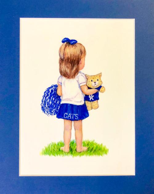 "11""W x 14""H single mat in Kentucky Blue"
