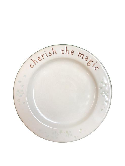 """Round plate  8""""W x 8""""H"""