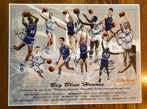 Big Blue Heroes Print signed 8