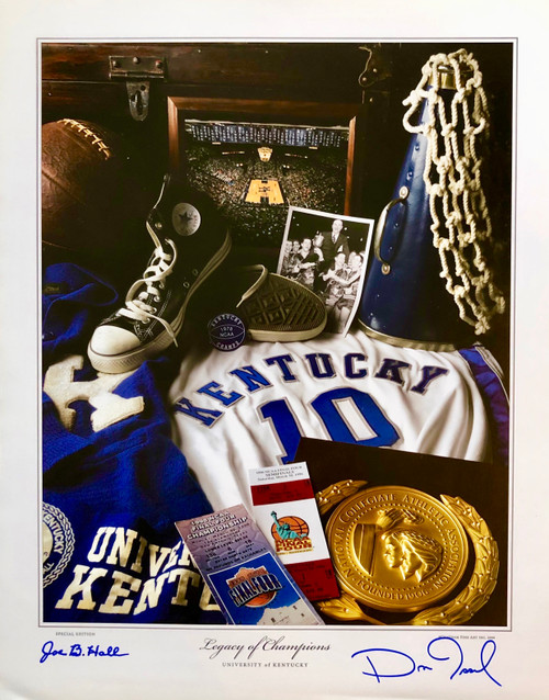 "16""W x 20""H Signed Joe. Ball, Dan Issel with Certificate of Authenticity"