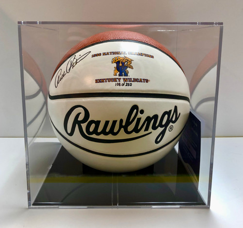 1996 National Championship Basketball signed by Rick Pitino with case