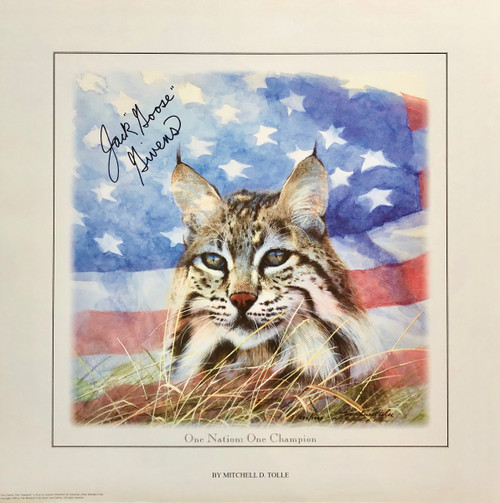 "Print size 18.5""W x 18.5""H signed by Jack ""Goose"" Givens with Certificate of Authenticity"