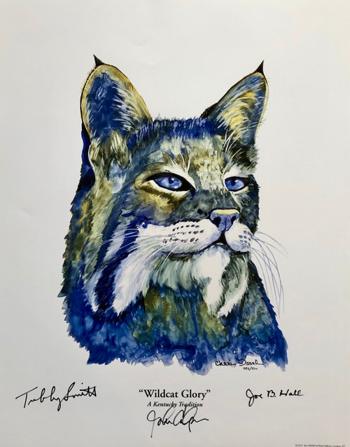 "Print size 18""W  x 23""H by Artist Cheri Issel, signed by: Tubby Smith, John Calipari, and Joe B. Hall"