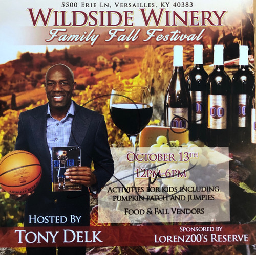 """Release print size 12""""W x 12""""H signed by Tony Delk"""