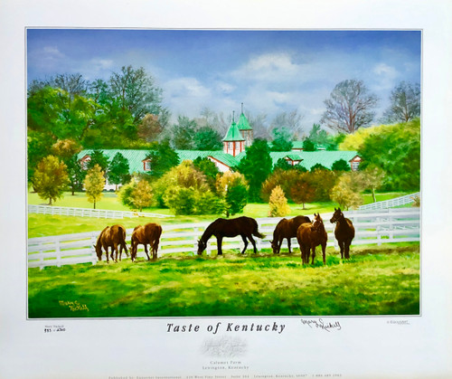 "22.5""W x 19""H Print is signed by Artist Mary Nickell"